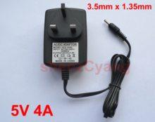 1 шт., запасной адаптер 5 в 4 а для зарядного устройства, штепсельная вилка стандарта Великобритании, постоянный ток 3,5 мм для Lenovo Ideapad 100S-11IBY 80R2