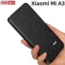 Etui z klapką do xiaomi mi a3 etui z podstawką xiaomi a3 okładka ze skóry z powrotem silikonowa książka Mofi glitter luksusowe etui Xiaomi mi a3