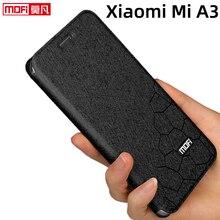 Flip case xiaomi mi a3 kılıf standı xiaomi a3 kapak deri arka silikon kitap Mofi glitter lüks Xiaomi mi a3 durumda iş