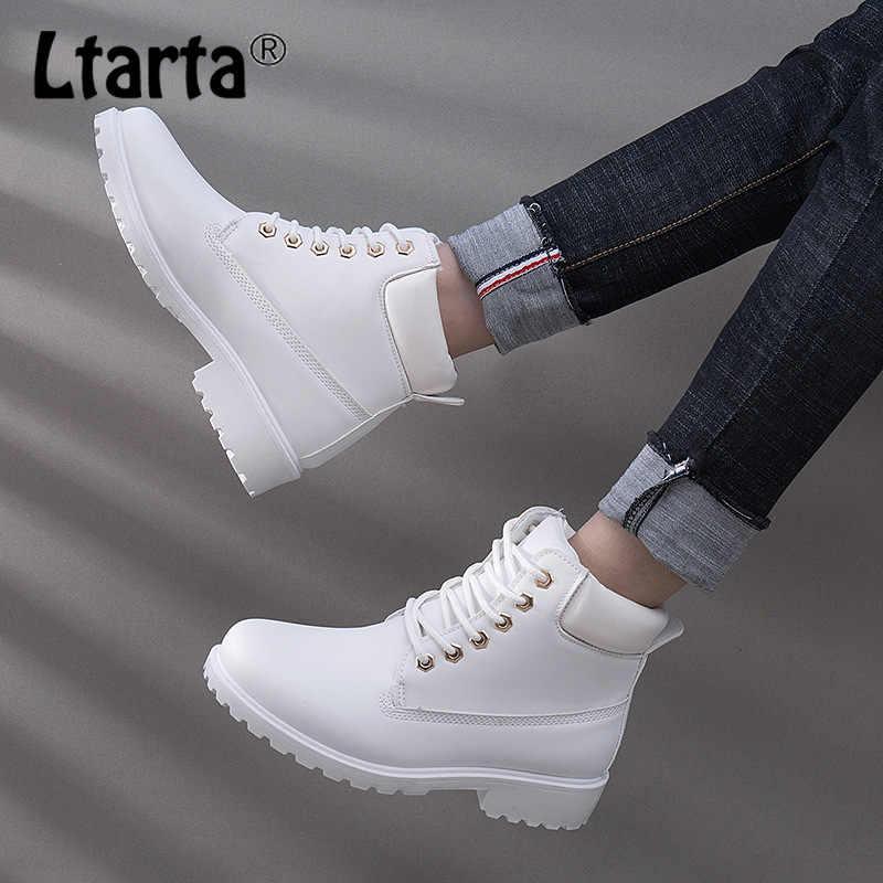 LTARTA 2020 Winter Martin Stiefel Frauen Weibliche Student Allgleiches Stiefel Kinder Runde Stiefeletten Damen Arbeiten Schuhe. xz-07