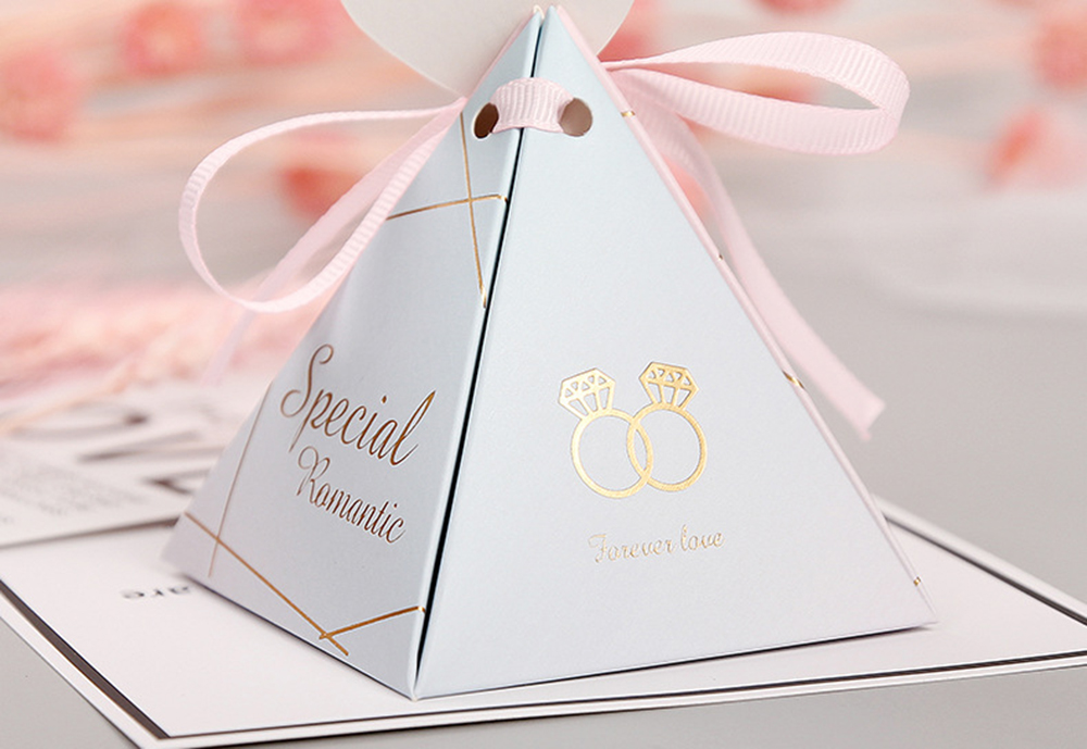Triangular Pyramid Marble Candy Box Wedding Favors and Gifts Boxes Chocolate Box for Guests Giveaways Boxes Party Supplies-33