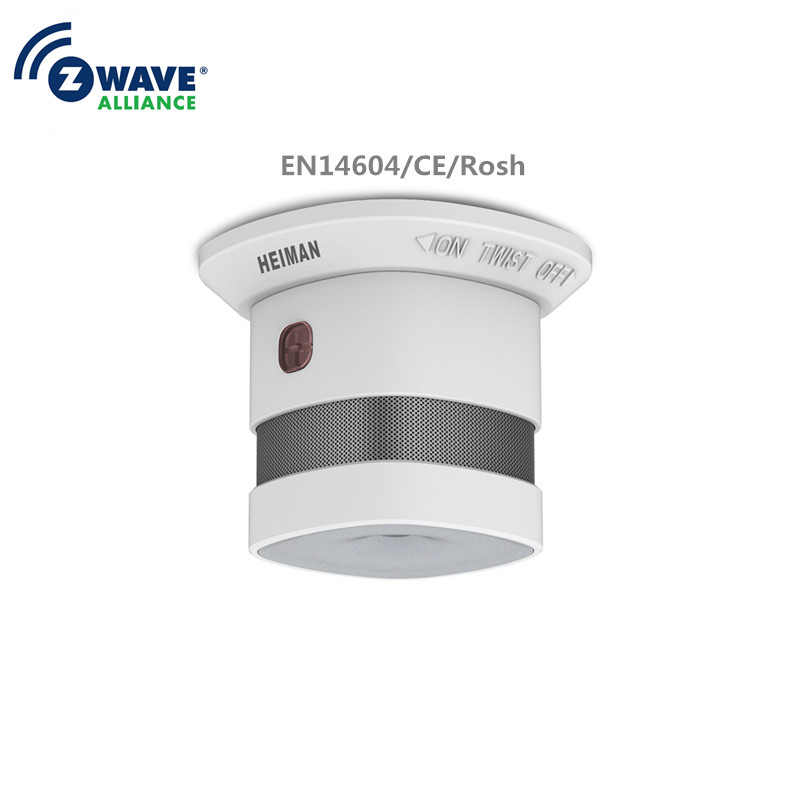 Z-wave Smoke Fire Detector Sensor Smart Home EU 868.42mhz Z Wave Smoke Detector Power Battery Operated Last About 3 Years