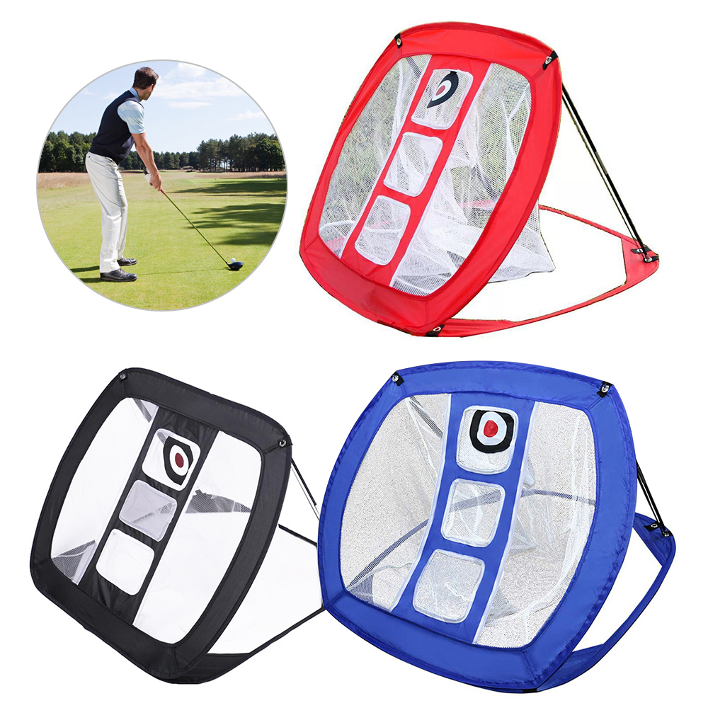 Backyard Pitching Hitting Practice Aid Portable Foldable Golf Chipping Net Indoor Outdoor Training Cage Garden Beginners Nylon