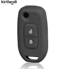 Kirtlandi silicone chave titular chaveiro para renault logan 2 stepway sandero duster 2019 2020 caso capa de proteção da chave do carro escudo