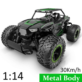 1:14 35Km/h RC Car Metal Alloy Body Crawlers Remote Control Off-Road Truck Cars Electric Vehicle For Kids Adults RC Car 4WD Toys 1
