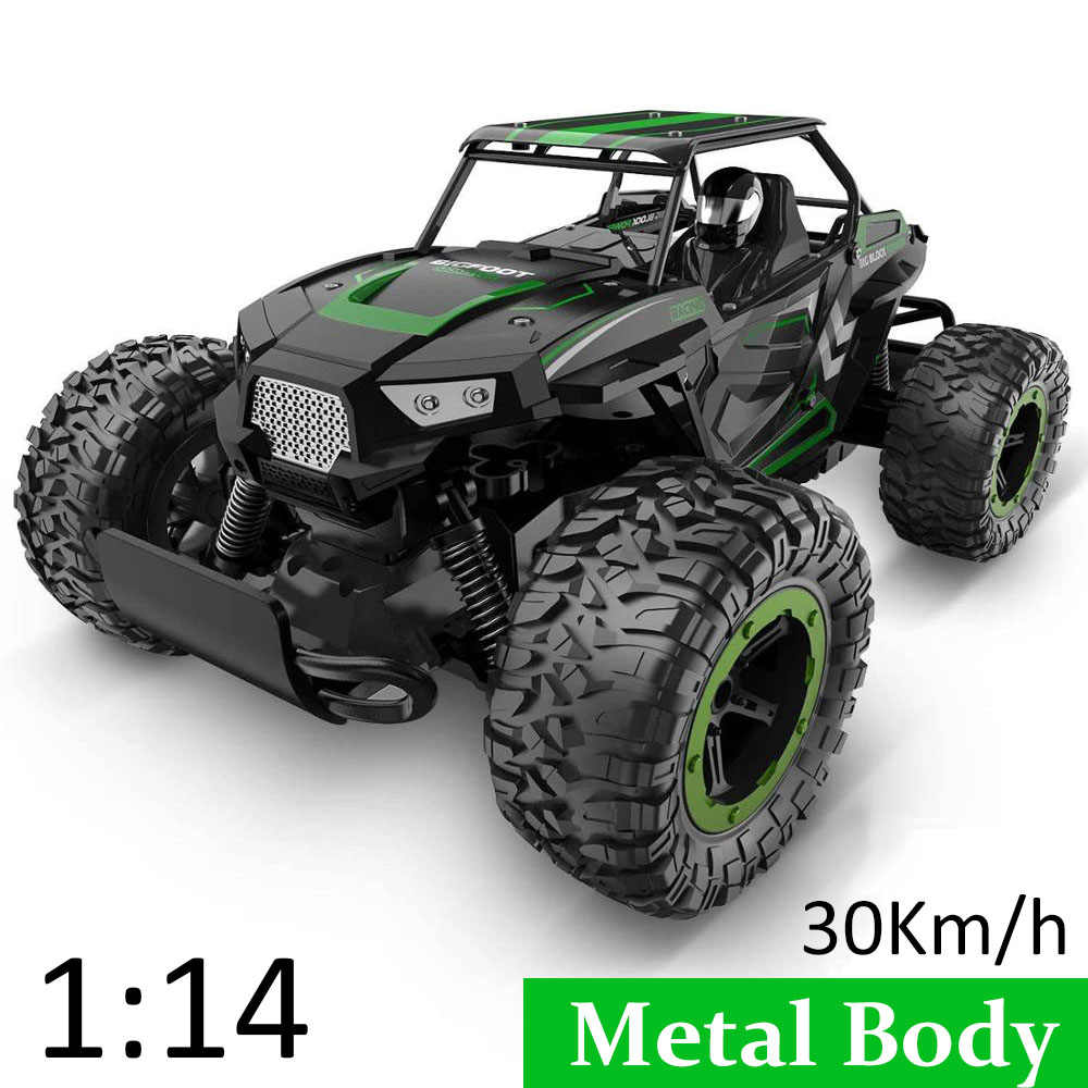 1 14 35km H Rc Car Metal Alloy Body Crawlers Remote Control Off Road Truck Cars Electric Vehicle For Kids Adults Rc Car 4wd Toys Aliexpress