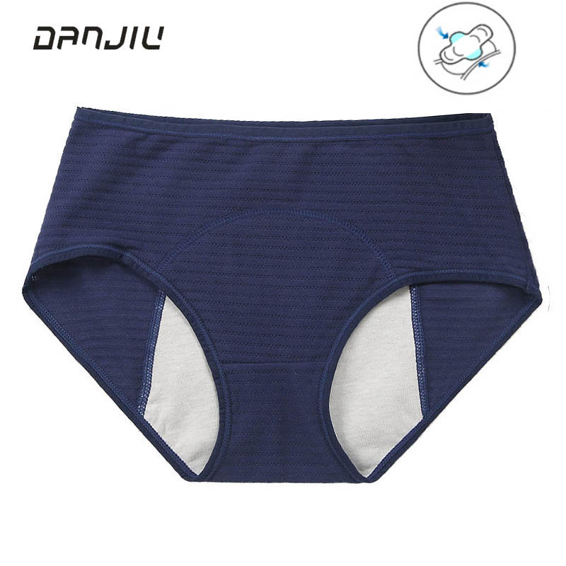 New Cotton Physiological Period Leak Proof Menstrual Panties Breathable Seamless Soft Fabric High Quality Women Underwear Breifs(China)