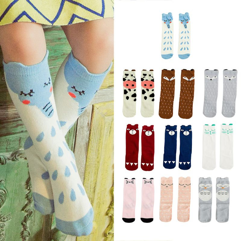 Baby Girls Socks Fox Cotton Cute Character Knee Socks Kid Clothing Unisex Toddler Boot Socks Cartoon Leg Warmer 2019