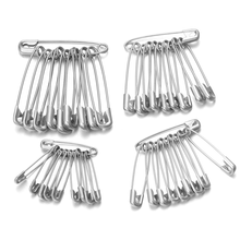50pcs/lot High Quality Stainless Steel Safety Pins DIY Sewing Tools Accessory Needles Large Safety Pin Small Brooch Wholesale