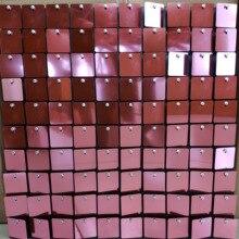 60 قطعة 30*30 سنتيمتر لوحات الخلفية مع PET الترتر الوردي مربع ل خلفيات الزفاف مرحلة ألواح مزخرفة جدار الترتر