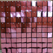 Planches darrière plan de mariage, 30x30cm, panneaux décoratifs avec paillettes carrées roses pour décor de scène, 60 pièces