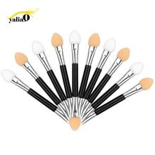Get more info on the YALIAO 10pcs/lot Double Ended Eyeshadow Applicator Eye Shadow Brushes Sponge Eyeliner Brush Eyeshadow Stick Make Up Tool
