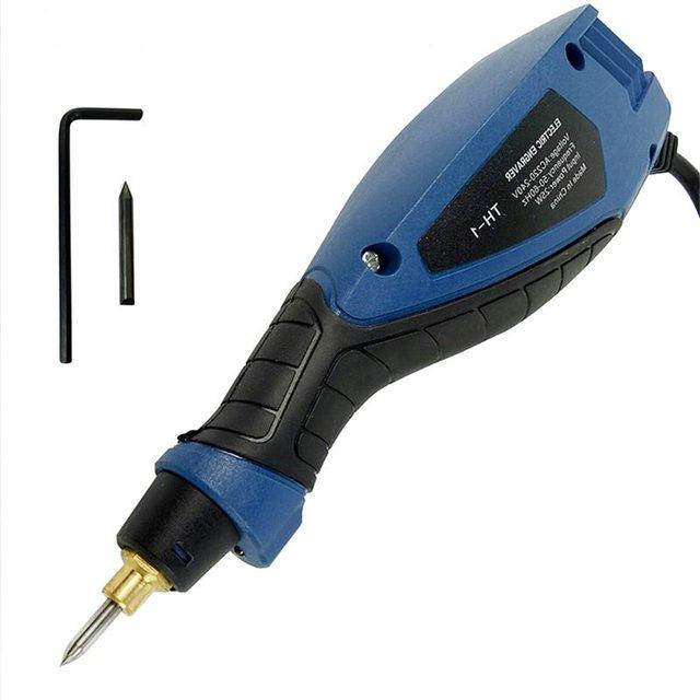 WSFS Mini amoladora eléctrica con enchufe europeo, máquina de tallado para Metal, madera, grabado en vidrio, herramienta lijadora eléctrica, pluma de grabado
