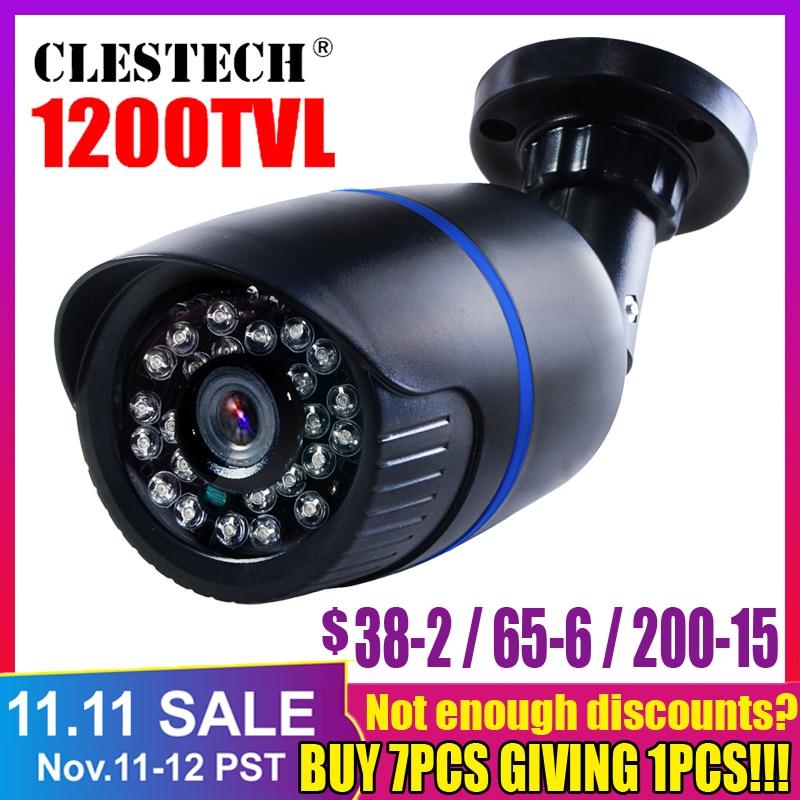 Vysoce kvalitní Full HD 1200TVL bezpečnostní dohled Mini CCTV kamera venkovní vodotěsný ip66 infračervená noční vidění s držákem