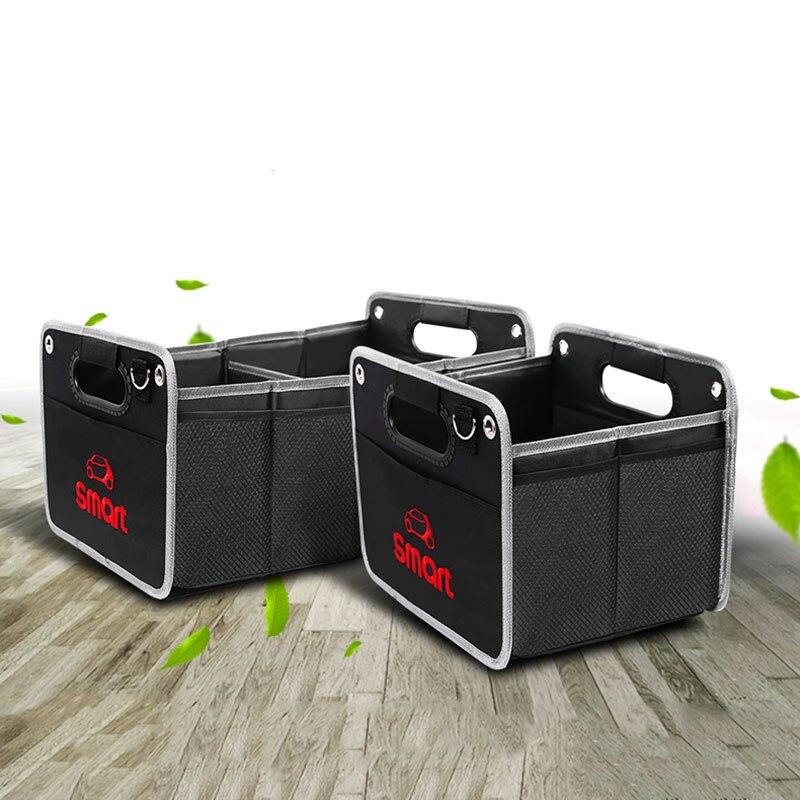 Image 5 - Składany czarny torba do przechowywania z tkaniny oxford do przechowywania torba dla Smart Fortwo Forfour 453 451 logo jeśli w tej klasie nie ma samochodu akcesoria samochodowe torba z siateczkąSprzątanie i organizacja   -