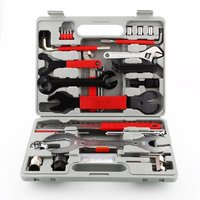 44 teile/schachtel Fahrrad Carbon Stahl Reparatur Kit Super Ausrüstung Toolbox Reparatur Werkzeug Mountainbike Ausrüstung Universal Fahrrad Werkzeug Set-in Fahrradreparaturwerkzeuge aus Sport und Unterhaltung bei