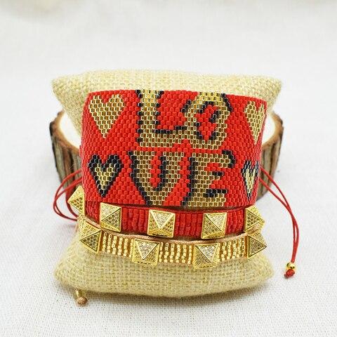 Браслеты rttooas с надписью love miyiki модные браслеты ручной