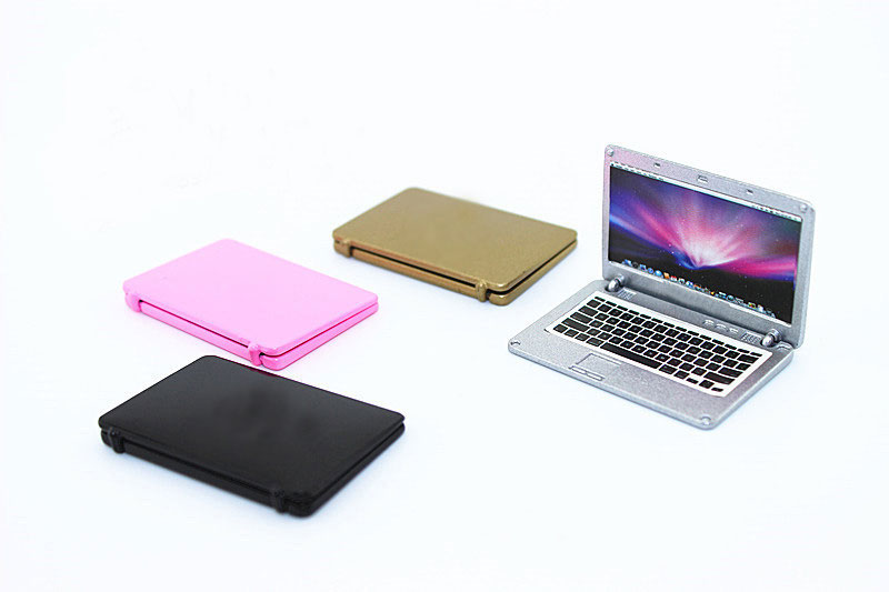Hot sale 1:6/1:12 Scale laptop computer toy Dollhouse Miniature Toy Doll Food Kitchen living room Accessories