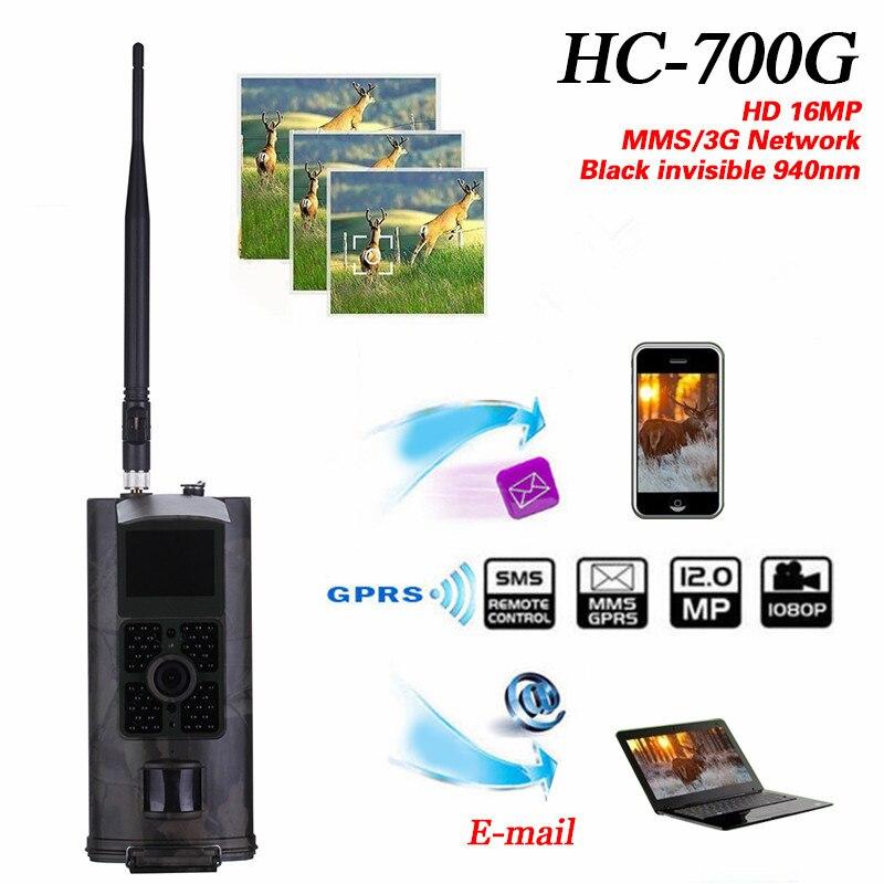 HC-700G Trail Camera 16MP 1080P Hunting Cameras HC700G Video Night Vision 3G MMS GPRS Photo Trap Scouting Game Wildlife Cams
