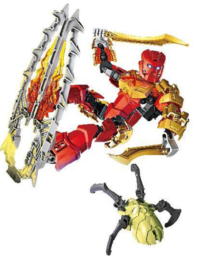 89pcs BIONICLE 708-3 TAHU Mestre de Fogo Tijolos de Bloco de Construção Crianças brinquedos figuras de ação