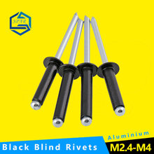 Blind Rivets Nail Decoration Pop Rivets for Furniture Blind Round Head Rivets GB Customize Black Aluminium