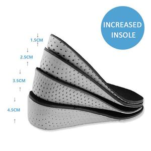 1 Pair Unisex Comfortable Height Increase Invisible Insole Taller Insert Memory Foam Insoles Shoes Feet Shoes Up Pad Cushion