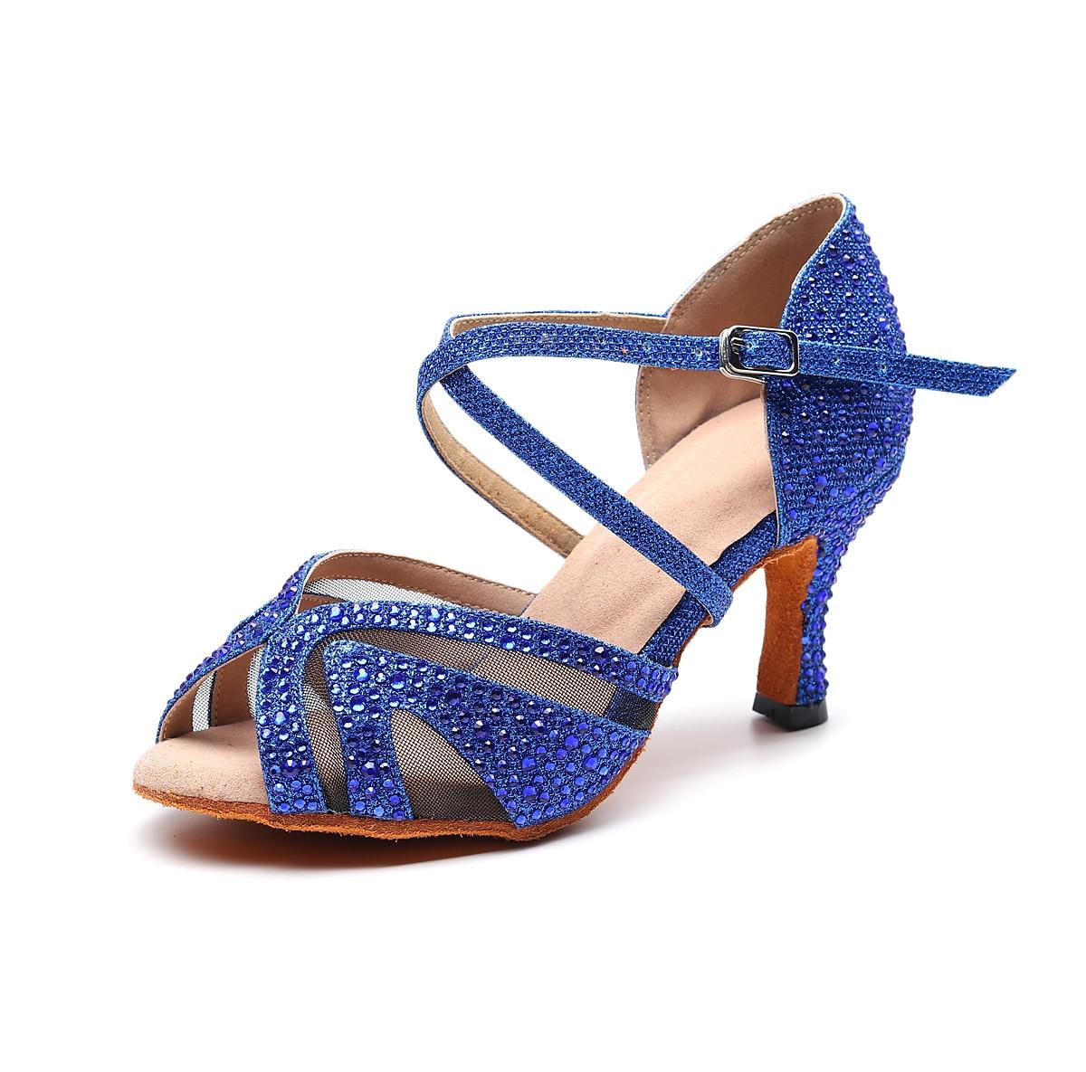 Luxury 2019 Jazz Salsa Ballroom Latin Dance Shoes For Dancing Women Dancers Small Feet High Heels Schoenen Summer Sandals