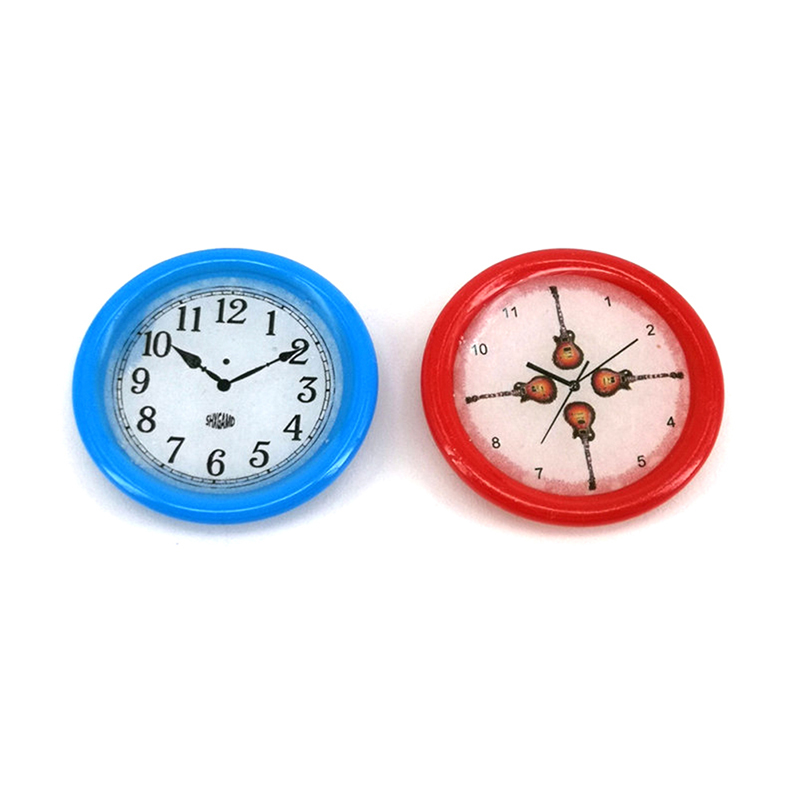 Wall Clock Dollhouse Miniature 33mm 1/12 Scale Play Doll House Miniaturas Home Decor Accessories Toy Pretend Play Furniture Toy