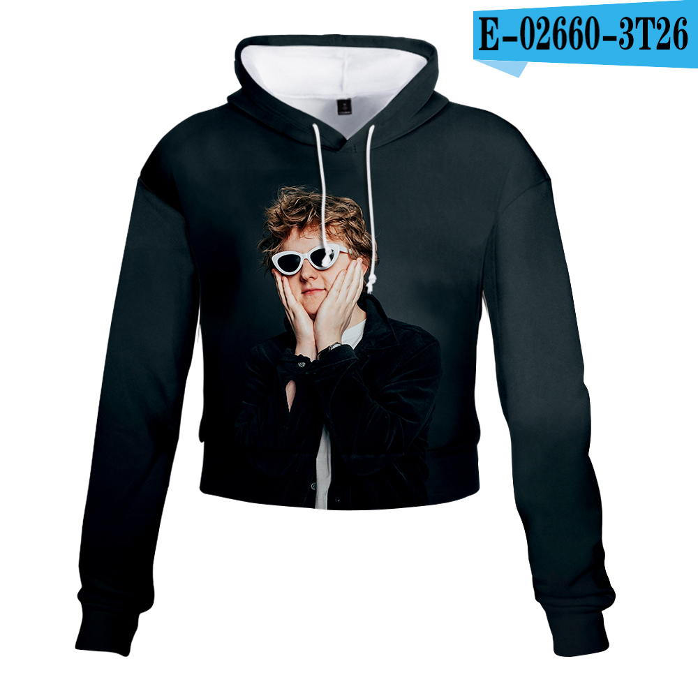 Lewiscapaldi Navel 3D Hoody Ladies <font><b>Sexy</b></font> High Waist Hoodie New Arrivals Fashion <font><b>Harajuku</b></font> Lewiscapaldi <font><b>Kawaii</b></font> Top Cute Women Print image