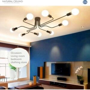 Image 4 - Потолочный светильник Luminaria, светодиодный потолочный светильник в винтажном стиле, освещение для дома в стиле лофт, лампы для гостиной