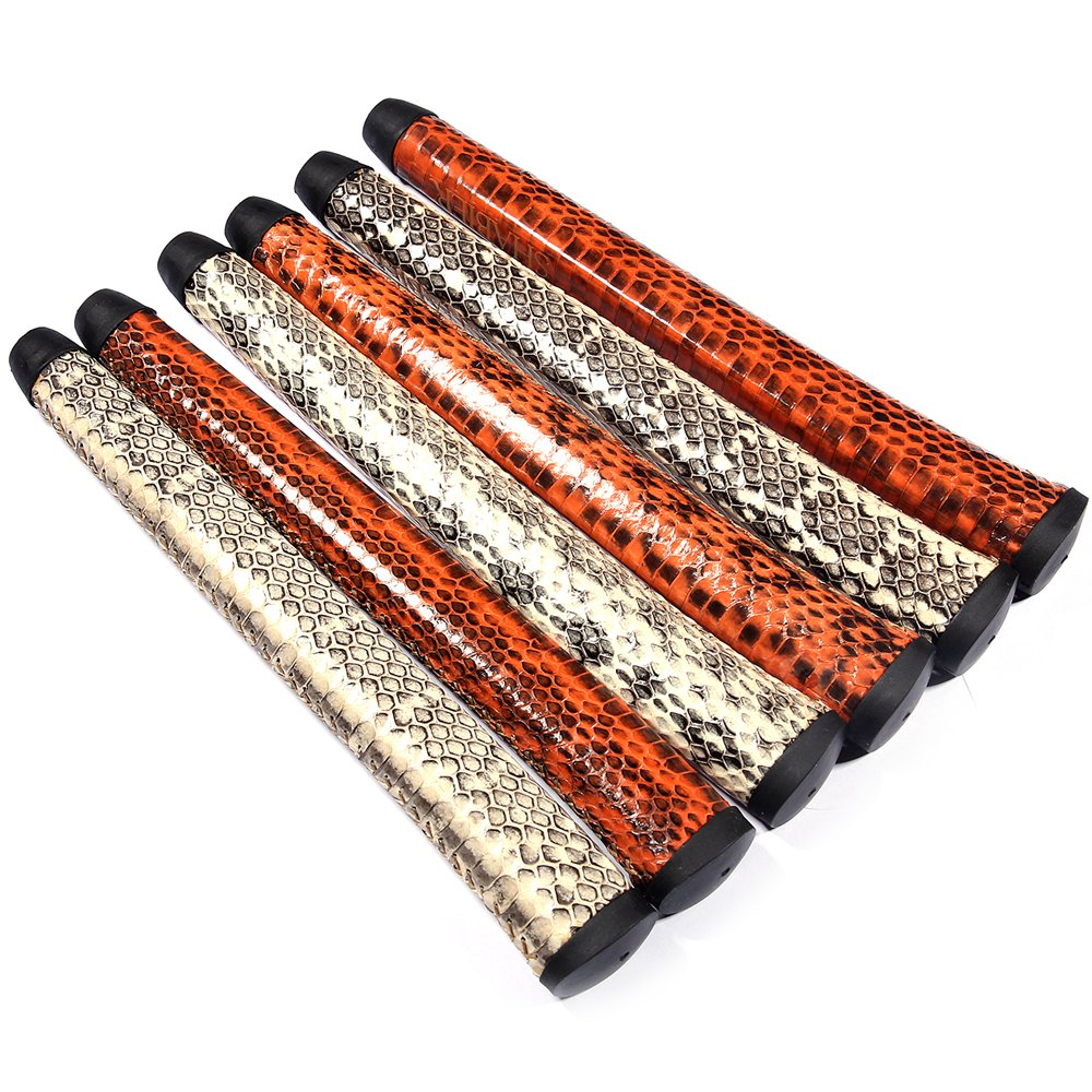 Snake Leather Midszie Size Golf Putter Grips Pure Handmade Leather Golf Grips