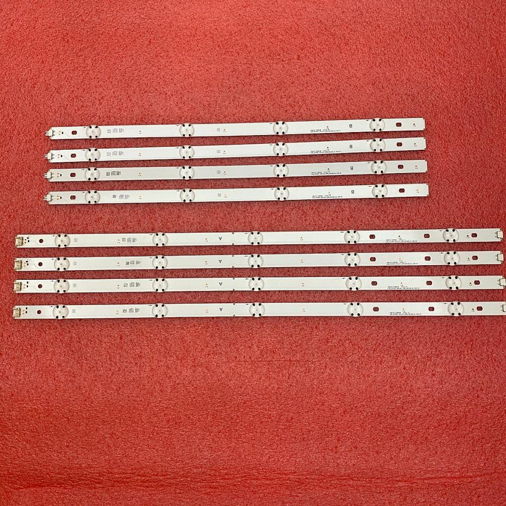 8 PCS LED backlight strip for LG 49UH610A 49UH6100 49LF5100 49UH6030 49UF640V 49UF6407  49UF640 49LF510V LGE WICOP 49inch UHD
