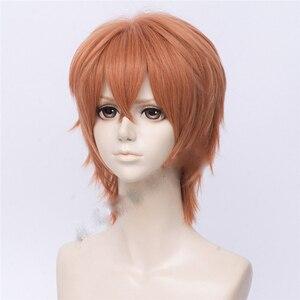 Image 3 - Anime donné Sato Mafuyu Cosplay perruque courte Orange foncé résistant à la chaleur cheveux synthétiques déguisement dhalloween perruques + bouchon de perruque gratuit