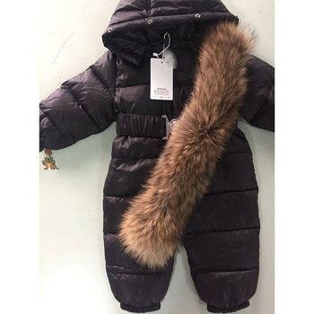 Baby's Winter Romper with Fur 3