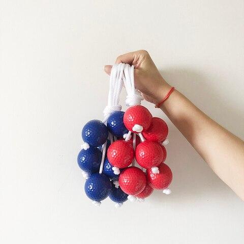 Bola de Golfe das Crianças Bolas de Treinamento Buraco de Golfe Bola de Jogo da Equipe Conjuntos Packs Colorido 42mm Escada Bola Azul Vermelho 5 –