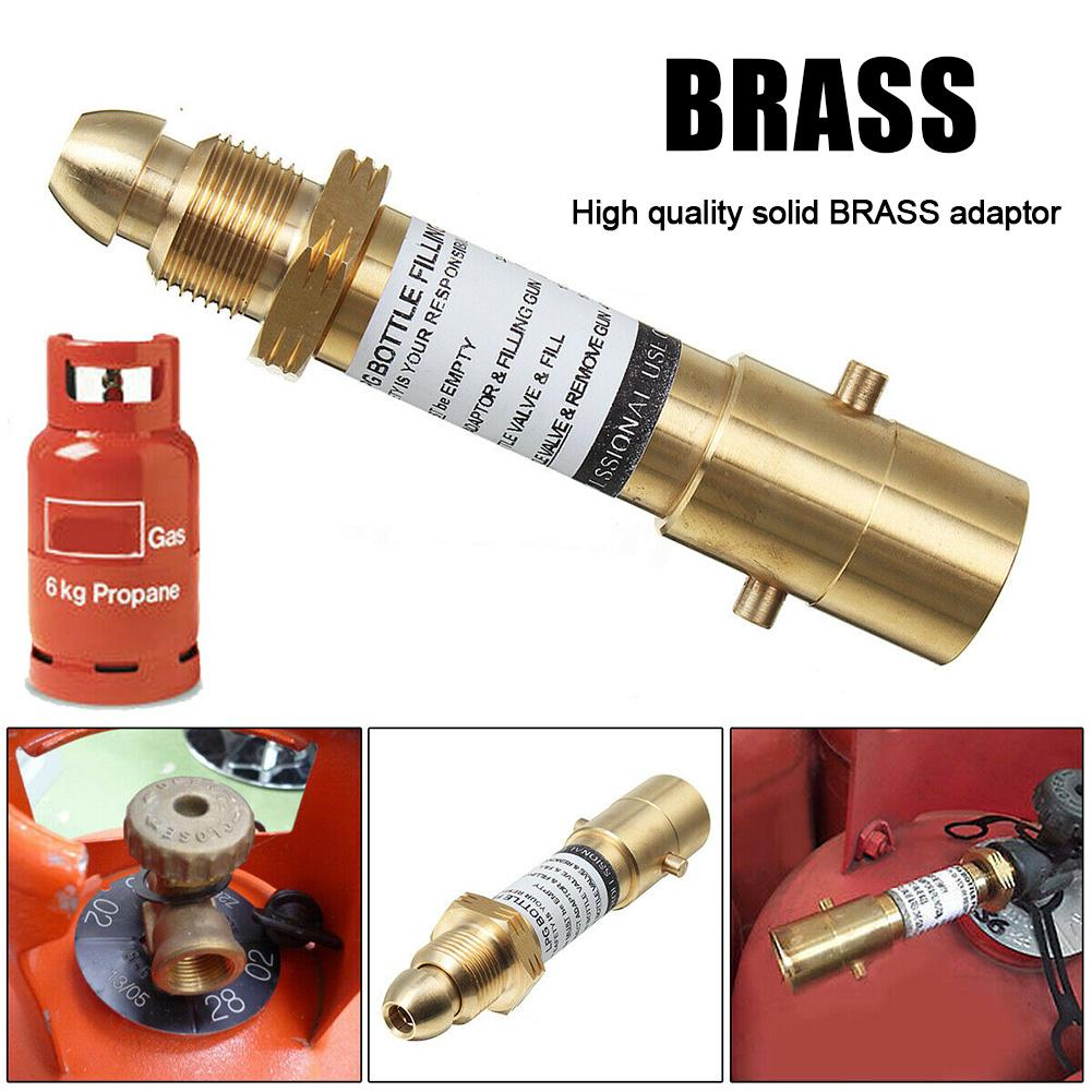 Brass Bayonet Type <font><b>Adapter</b></font> Propane Bottle Replacement Brass <font><b>Adapter</b></font> For LPG <font><b>GPL</b></font> Gas Bottles Gas Home Tool Accessories image