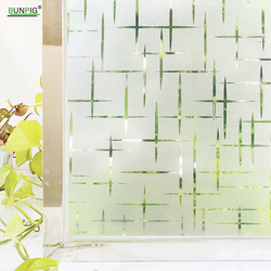 Matte Stained Window Film Static Cling Decorative Glass Window Adhesive Film Vinyl Privacy Protective Removable Window Sticker