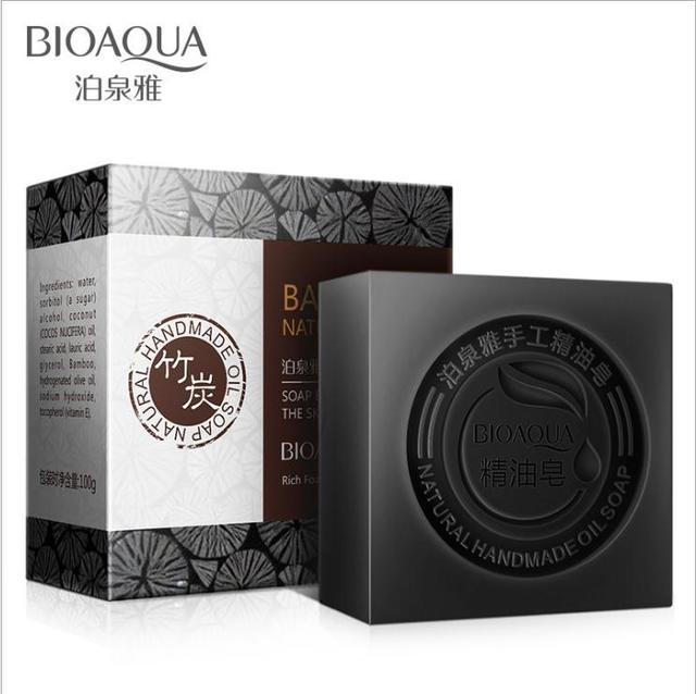 BIOAQUA Natural Organic Herbal Essential Oil Soap Whitening Handmade Soap Skin Remove Acne Deep Cleansing Face Hair Care Bath 4