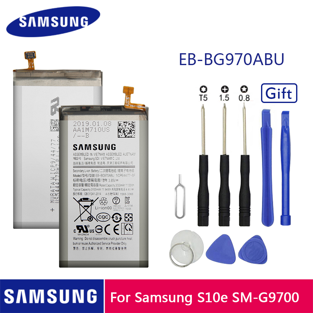 Samsung Original Replacement Batteries 3100 Mah EB-BG970ABU For Samsung Galaxy S10E S10 E <font><b>SM</b></font>-<font><b>G9700</b></font> <font><b>G9700</b></font> image