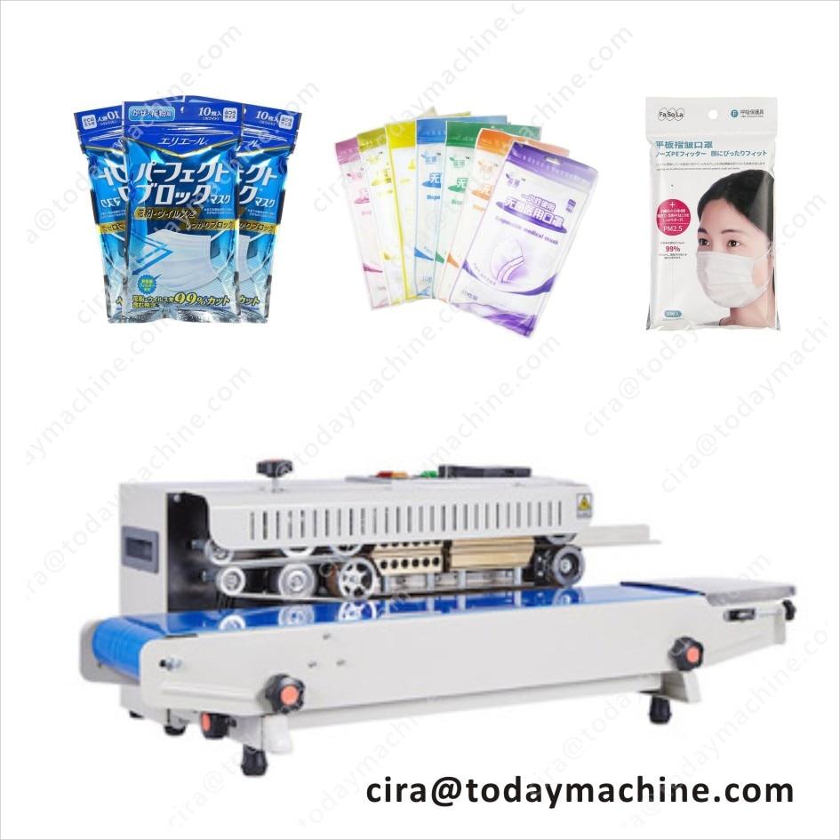 New continuous belt sealing machine / masks packing sealing machine (10 pieces)