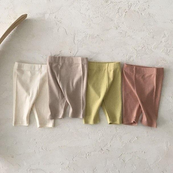 7682 Newborn Baby Pants Korean Summer 2021 Boys Pants Pure Cotton Bottoms Simple And Comfortable Toddler Girl Summer Pants