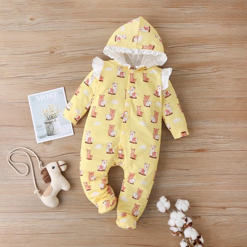 Купить детский однобортный комбинезон с капюшоном на возраст 0 12 месяцев
