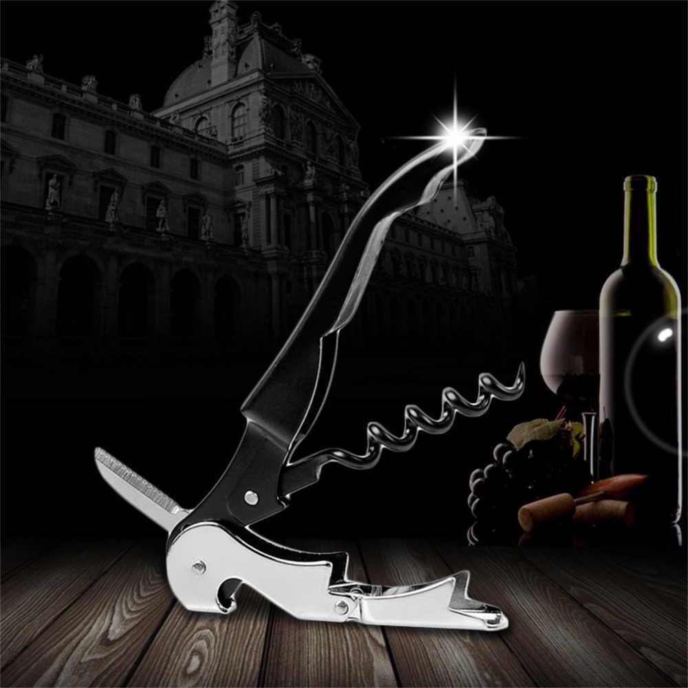 1 Uds. De acero inoxidable tornillo de corcho de Metal multifunción abridor de tapa de botella de vino tinto oferta de Stock abridor de botellas multifunción