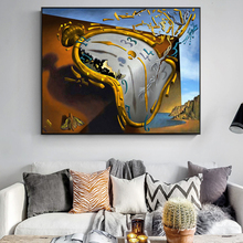 The Persistence of Memory By Salvador Dalí Canvas Art Posters And Prints Classical Famous Art Pictures Clock Art Wall Paintings недорого