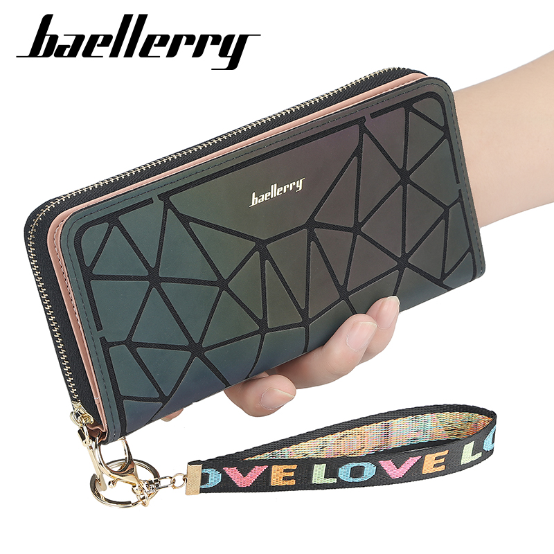 Baellerry 2021 Luxury Korean Womens Wallets and Purses Leather Phone Clutch Slim Designer Ladies Wallet