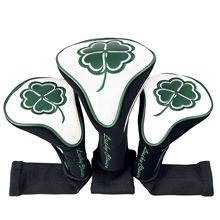 Champkey Golf Woods Head Covers Set of 3(No.1,3,5) - Premium Fairway Woods Headcovers Fits Oversized Drivers, Utility(China)