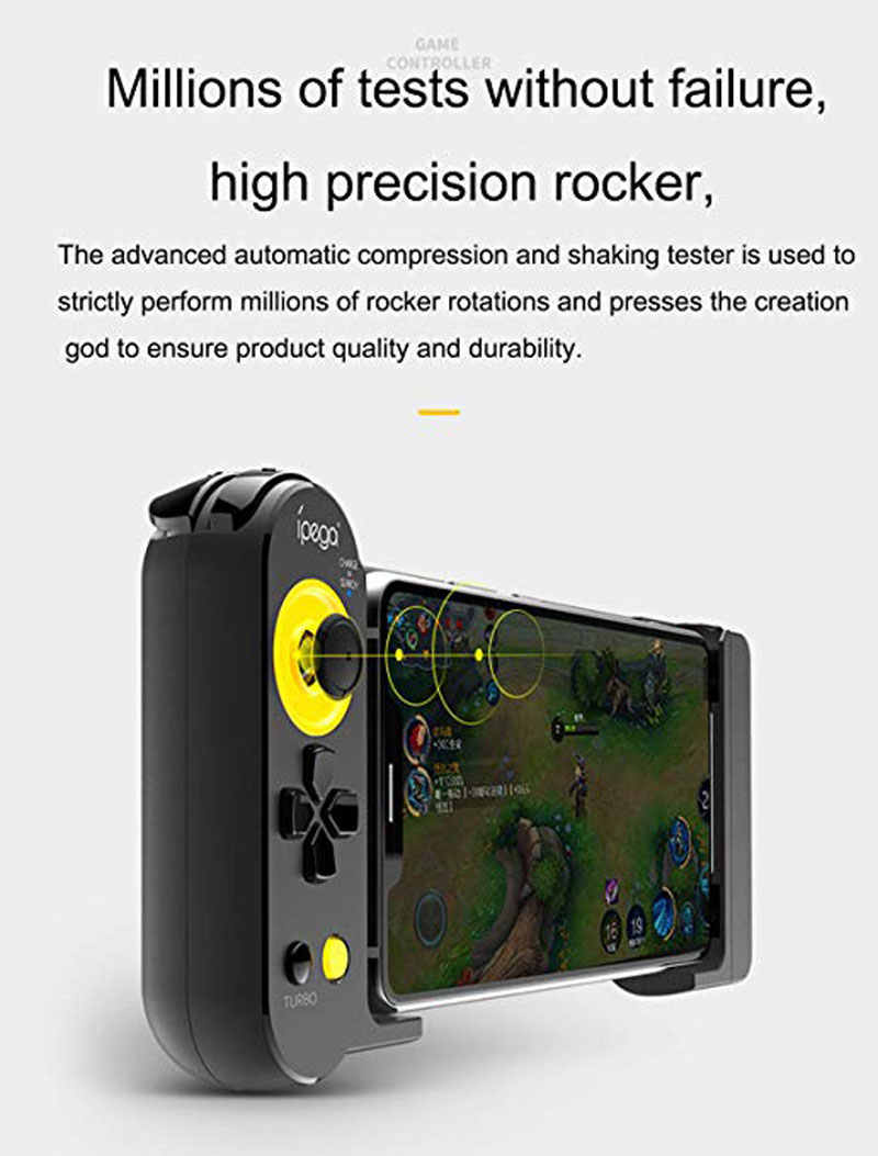 Ipega PG-9167 PUBG, controlador de juego para móvil, Gamepad inalámbrico, Bluetooth, Joystick, compatible con IOS/Android Smartphone, Ipad, Tablet y PC