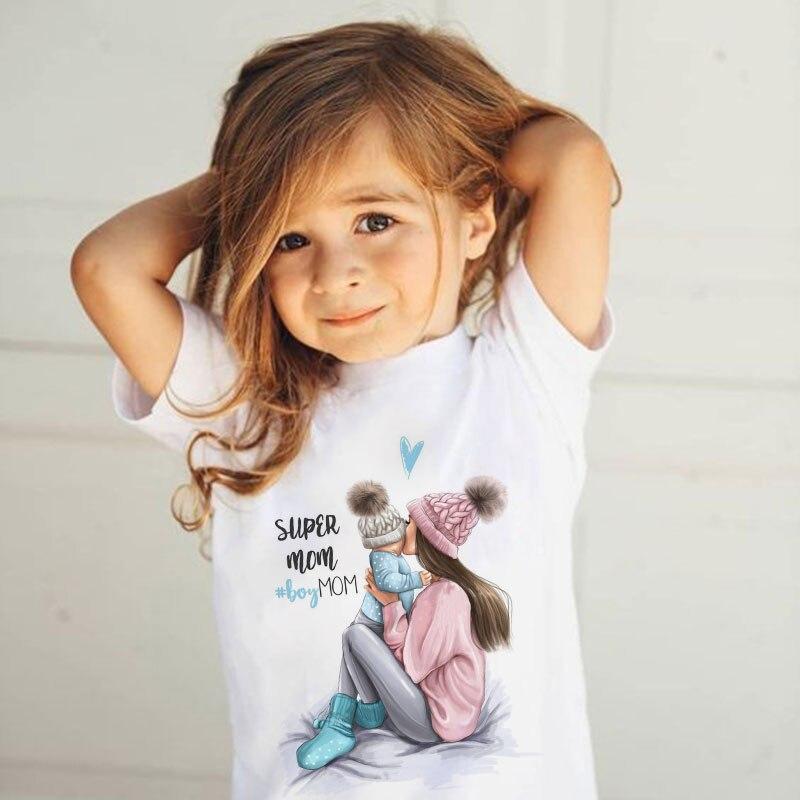 ZZSYKD/Летняя футболка для маленьких девочек с изображением супермамы модные футболки для мальчиков Милая Детская футболка с принтом «Love Life» для мамы и ребенка|Тройники| - AliExpress