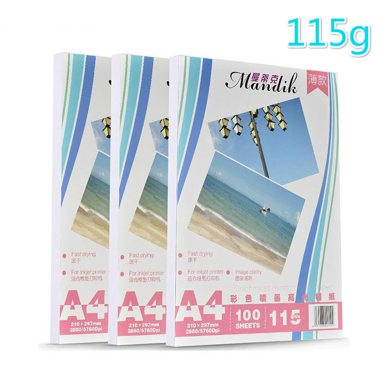 115g A4 100 Sheets Of Self-adhesive Inkjet Printing And Adhesive Stickers Photo Paper Crystal Photo Printing Paper Like Paper