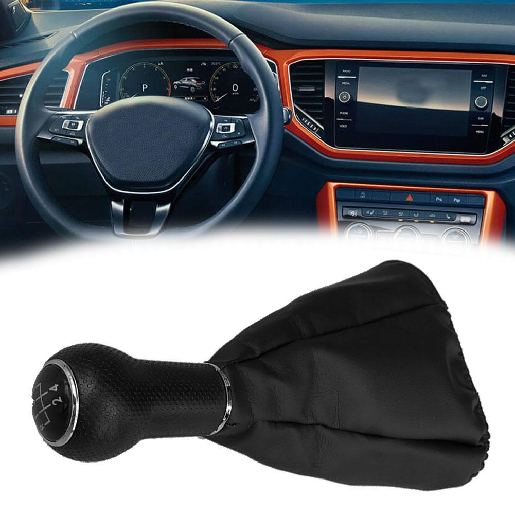 5 Speed Auto Car <font><b>Gear</b></font> <font><b>Shift</b></font> <font><b>Knob</b></font> with Boot Cover Gaiter for <font><b>VW</b></font> <font><b>Golf</b></font> Jetta <font><b>3</b></font> MK3 image